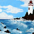 Lighthouse And Sunkers by Barbara Griffin