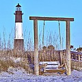 Lighthouse And Swing by Gordon Elwell