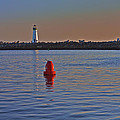 Lighthouse At Harbor by SC Heffner