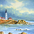 Lighthouse At Portland Head Maine by Bill Holkham