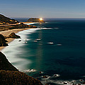 Lighthouse At The Coast, Moonlight by Panoramic Images