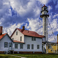 Lighthouse At Whitefish Point by Nick Zelinsky