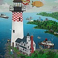 Lighthouse Fishing by Robert  Logrippo
