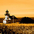 Lighthouse In Autumn by Joseph Coulombe