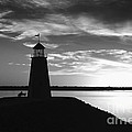 Lighthouse In Black And White by Betty LaRue