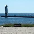 Lighthouse In Blue by Linda Kerkau