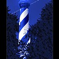 Lighthouse In Blue by Mike McGlothlen