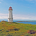 Lighthouse In Louisbourgh-ns by Ruth Hager