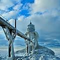 Lighthouse In Saint Joseph Michigan by Dan Sproul