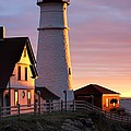 Lighthouse In The Morning by Jenny Hudson