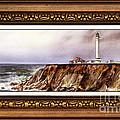Lighthouse In Vintage Frame by Irina Sztukowski