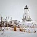 Lighthouse In Winter by Linda Kerkau