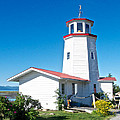 Lighthouse Near Homer Spit-ak by Ruth Hager
