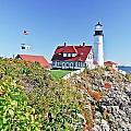 Lighthouse Of Maine by Elvis Vaughn