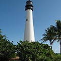 Lighthouse On Key Biscayne by Christiane Schulze Art And Photography