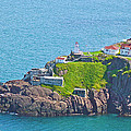 Lighthouse On Point In Signal Hill National Historic Site In Saint John's-nl by Ruth Hager