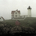 Lighthouse - Photo Watercolor by Frank Romeo