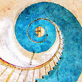 Lighthouse Staircase by Sandy MacGowan