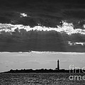 Lighthouse Sun Rays Bw by Michael Ver Sprill