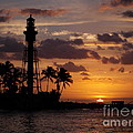 Lighthouse Sun Rays by William Teed