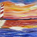 Lighthouse Sunset by Larry Marano