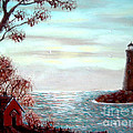 Lighthousekeepers Home by Barbara Griffin