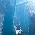 Lighting In Nigardsbreen Glacier Grotto 1 by Heiko Koehrer-Wagner