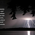 Lightning At Night - Inspirational Quote by Barbara West