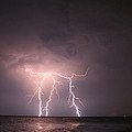 Lightning At Open Sea by Leyla Ismet
