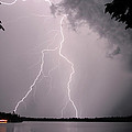 Lightning At The Lake by Barbara West