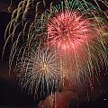Lightning Fireworks by Randall Bertrand