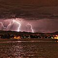 Lightning Over Lake Loveland by Trent Mallett