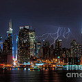 Lightning Over New York City IIi by Clarence Holmes