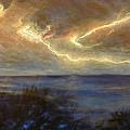 Lightning Storm by Affordable Art Halsey