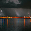 Lightning Storm Pano Work A by David Lee Thompson