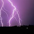 Lightning Striking During A Storm by Ben Van Den Brink