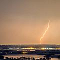 Lightning Striking Over Coot Lake And Boulder Reservoir by James BO  Insogna