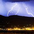 Lightning Striking Over Ibm Boulder Co 3 by James BO  Insogna
