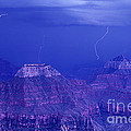 Lightning Strkes At The North Rim Grand Canyon National Park by Dave Welling
