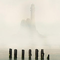 Lightouse In The Early Fog by Jaroslaw Blaminsky