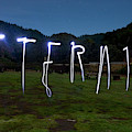 Lightpainting Image Spelling The Word by Woods Wheatcroft