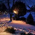 Lights In Snow by Carol Erikson