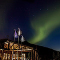 Lights Over Princess Denali Lodge by Thomas Sellberg