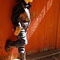 Lil Cowboy In Sun by Esther Wilhelm Pridgen