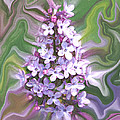 Lilac Abstract by Ernie Echols
