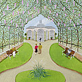 Lilac Arbour Oil On Board by Mark Baring