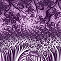 Lilac Fractal World by Gabiw Art