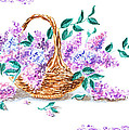 Lilac Vintage Impressionism Painting by Irina Sztukowski
