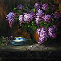 Lilacs In Copper Pot by Jason Walcott