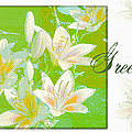 Lilies Greeting Card by Sandra Foster